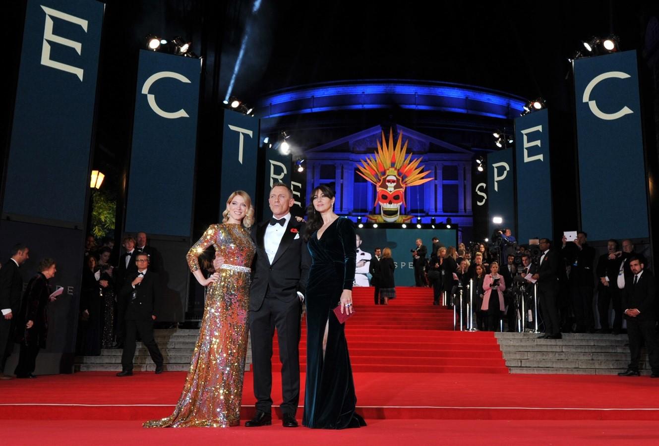 Anteprima Spectre  007 Monica Bellucci e Daniel Craig