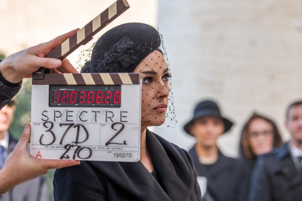 Riprese film Spectre 007 Monica Bellucci